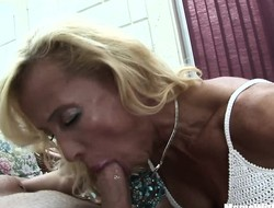 Tow-haired Mature Melissa Q Sucking And Fucking Young Cock