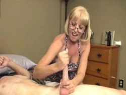 Anomalous blonde granny Scarlet offers youngster stud William a supportive hand