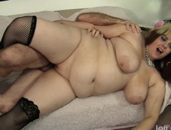 Fat housewife just about XXX black stockings indulges just about a hardcore adventure