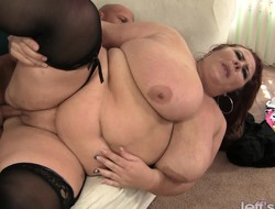Humongous girl gets drilled hard and damn round can't have faith