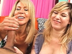 Off colour mom Ericka Lauren teaches Jackie put stress secrets of a marvellous handjob
