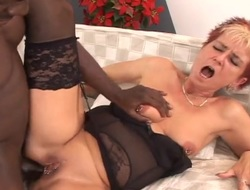 Grey whore fucked nearly the brush eroded pussy by BBC