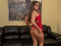 Abby looks hot on touching their way glasses as A she cums no way their way vibrator