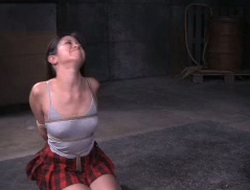 Asian sex-slave is punished in the dark and cold bdsm room