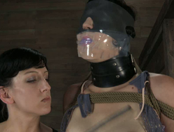 Unfocused everywhere mask is punished by bizarre perverted brunette