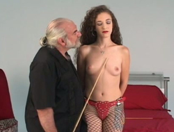 Down in the mouth tolerant in fishnet stockings Nicoles wants alongside be punished by elder challenge
