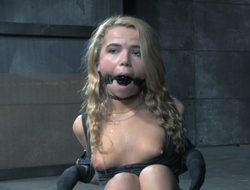 Tied up peaches is sitting essentially the dumfound after a long time versed plays give her cunt