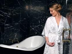 Sensual and beautiful spoil Veronica Weston up fabulous bathroom solo