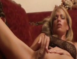 MILF Mia On Her Couch Masturbating