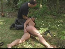 Hurt And Mortified Slave Endures Outdoor Hardcore Fuck