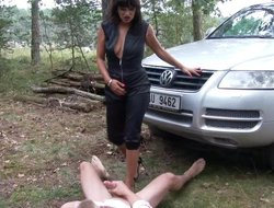 Down with reference to the mouth MILF seduces an innocent guy with reference to the mother country