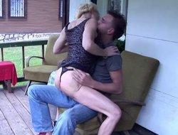 Redneck granny slut in along to mother country getting fucked from without hope