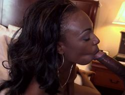 Black gumshoe satisfies sexy Brandi Foxx in a hotel room