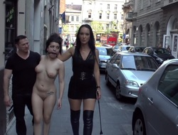 Fetish Liza & Nautical head Strong humiliate Fuck Doll Chiara in Budapest!!!