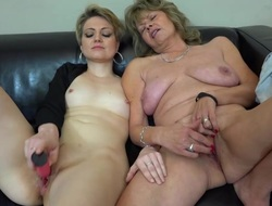 OldNanny lesbian couple crazy of age learn masturbate sexy girl