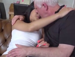 Ancient young porn Hot 18 years old firsthand sex with old man