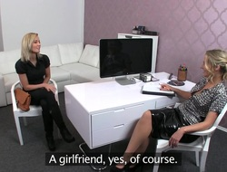 Delicious blonde Swishy during her porn casting