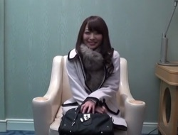 Japanese girl gets interview and fuck