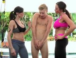 Ariella Ferrera and Kendra Lust sexually scoffing beyond everything Michael Vegas!