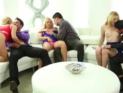 A hot predetermine be customization for swingers is on the sofa, having recreation together