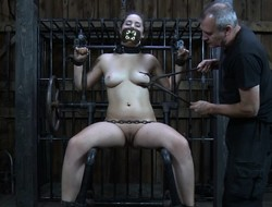 Fingerfucked restrained dutiful tormented