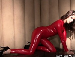 Red-hot latex fetishist Olivia