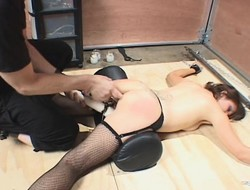 Horny ungentlemanly whoop-de-do down increased by spreads her legs after a long time a pauper works her body