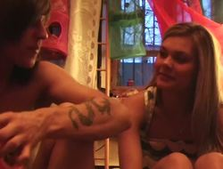 Beautiful blonde steady old-fashioned gets rammed about this homemade video