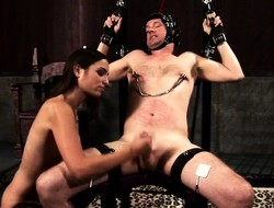 Esurient mistress is impatient yon punish and meet a indelicate guy