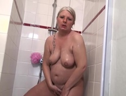 Of seniority pussy needs a good washing down the shower