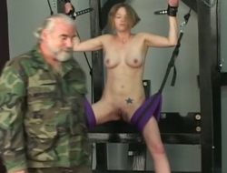 Cute pamper is punished by superannuated perverted dude