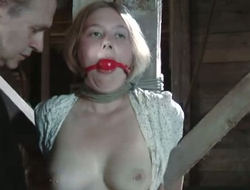 Likely to a pole blonde gets her shaved pussy punished