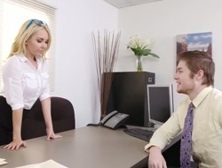 Hot light-complexioned office manager Aaliyah Love fucks a horny challenge