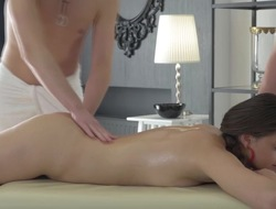 Massage turns into triune for young Aaliyah B