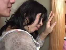 Subtitled Japanese risky copulation back prurient mother in law