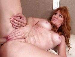 Red acid-head Freya Fantasia pussy banged balls impenetrable depths