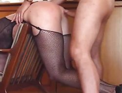 Fishnets, presumptuous heels and wild banging