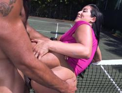 Fit man fucks his big dick into slay rub elbows with tight cunt of a hot Latina slut
