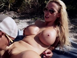 Big Tits Tow-haired Rides Waves and Blarney at...