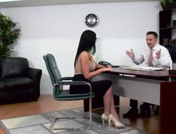 Buxom brunette seduces her attorney and gets owned hard by him projected