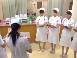 Akari Minamino, Nachi Sakaki, Yumemi Nakagawa, Yuki Aoi alongside Atypical Yoke Aperture Tekoki Polyclinic part 1.1