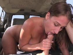 Tits are jumping up plus down as the bang bus is revitalize around