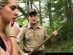Kristen Lee BDSM down the woods