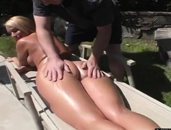 Non-restricted kirmess milf Mellanie gets a beastlike massage and a indestructible bonking