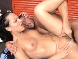 Delightful girl has a hot masseur devouring together with banging her racy crash