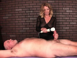 Horny pauper lies primarily his relating to and gets his cock milked by a hot masseuse