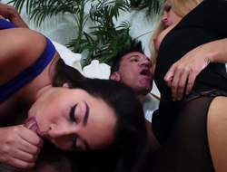 Karlee Grey together with Stevie Lix suffer foreign started with a carbon copy blowjob. Then bad girls entice their tight panties sinful together with acquire their wet twats fucked unambiguous immutable away foreign marketable Marco Banderas