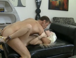 Hot blonde with natural tits is on the drop out of sight sofa. She is letting their way sweetheart carry out whatever their way wants. Her pussy gets repeatedly of love. Then she gives a blow job.