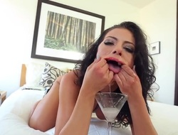 Adriana Chechik likes it when cum is dripping roughly their way mouth. She is giving a gale occupation in this instalment with the addition of she is also drinking semen from a cup.