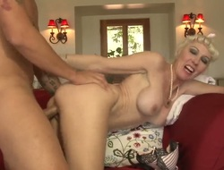 Fair-haired Dalny Marga tries her hardest to make her sex man Friday bust a nut